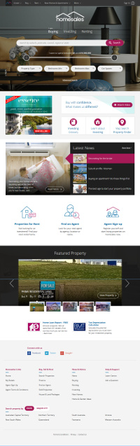 screenshot of homesales.com.au